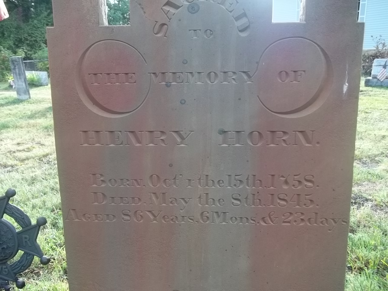 Henry Horn tomb stone
